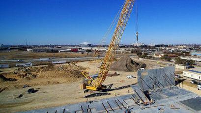 Crane Lifting Tiltwall Panel